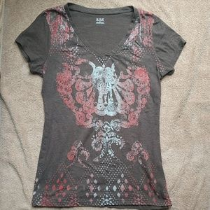 A.n.a a new approach brown t shirt size medium